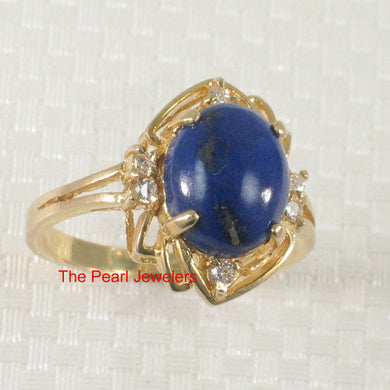 3130045-14k-YG-Cabochon-Cut-Genuine-Natural-Blue-Lapis-Diamonds-Ring