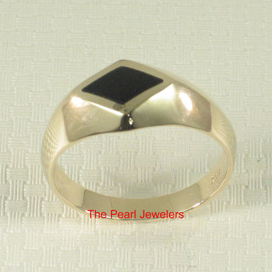 3130131-Elegance-Simplicity-14k-Yellow-Gold-Black-Onyx-Solitaire-Ring