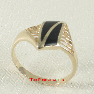 3130211-Elegance-Simplicity-14k-Yellow-Gold-Black-Onyx-Cocktail-Ring
