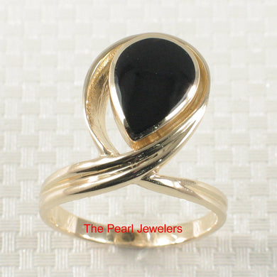 3130301-14k-Solid-Yellow-Gold-Tear-Drop-Shape-Black-Onyx-Band-Ring