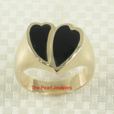 3130341-14k-Yellow-Gold-Double-Hearts-Shape-Black-Onyx-Band-Ring