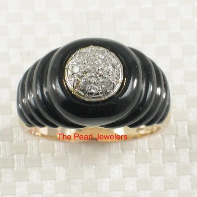 3130431-14k-Yellow-Gold-Shell-Black-Genuine-Onyx-Diamond-Cocktail-Ring