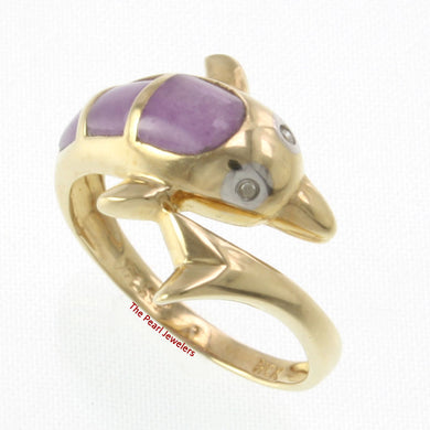 3187402-14k-YG-Diamonds-Cabochon-Cut-Lavender-Jade-Dolphin-Band-Ring