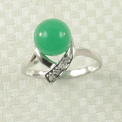 3199508-14k-White-Gold-6-Shaped-Round-Green-Jade-Diamond-Solitaire-Ring