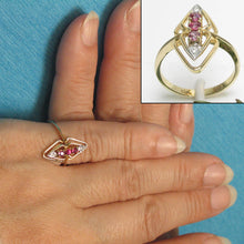Load image into Gallery viewer, 14k Solid Yellow Gold Genuine Diamonds, Square Natural Red Ruby Cocktail Ring