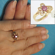 Load image into Gallery viewer, 14k Solid Yellow Genuine Diamonds & Oval Natural Red Rubies Cocktail Ring