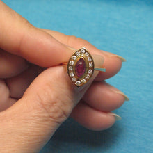 Load image into Gallery viewer, 14k Yellow Solid Gold Genuine & Natural Red Marquise Ruby & Diamonds Ring