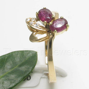 18k Solid Yellow Gold Genuine Diamonds, Natural Red Oval Ruby Cocktail Ring