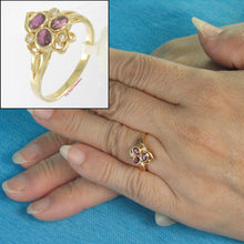 Load image into Gallery viewer, 18k Solid Yellow Gold Genuine Diamonds, Natural Red Oval Ruby Cocktail Ring