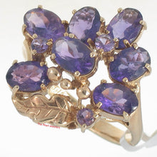 Load image into Gallery viewer, 14k Solid Yellow Gold Genuine Oval Cut Amethyst Cocktail Ring