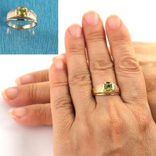 Load image into Gallery viewer, 14K Solid Yellow Gold Peridot Solitaire Ring for Man or Lady