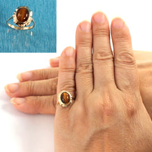 Load image into Gallery viewer, 14K Solid Yellow Gold Tiger-eyes Solitaire Ring