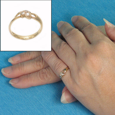 18k Solid Yellow Gold Round Brilliant Genuine Diamonds Cocktail Ring