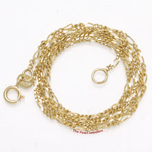 Load image into Gallery viewer, 580013-14k-Yellow-Solid-Gold-1.3mm-Highly-Polished-Figaro-Chain-Necklace