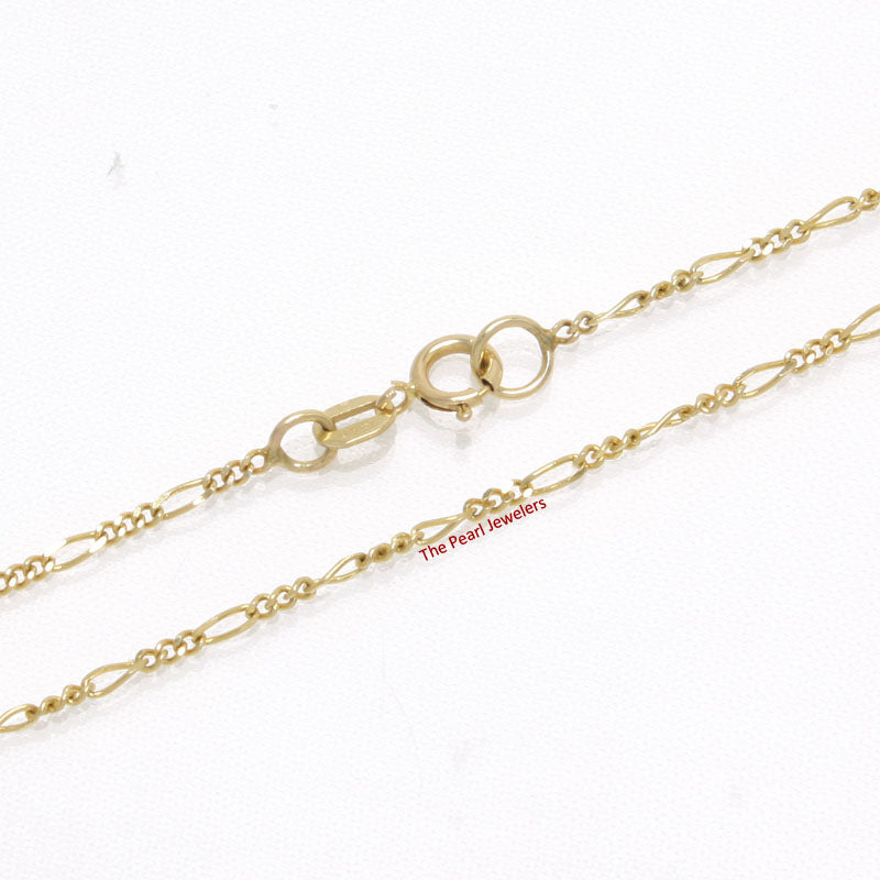 580013-14k-Yellow-Solid-Gold-1.3mm-Highly-Polished-Figaro-Chain-Necklace