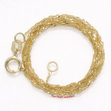 Load image into Gallery viewer, 580017-14k-Yellow-Gold-Sparkling-Singapore-Style-Chain-Necklace-1.0mm