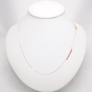 14k Solid Yellow Gold Flat Round Cable 0.9mm Style Chain Necklace