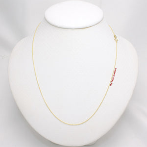 14k Solid Yellow Gold Long Cable 1.0mm Style Chain Necklace