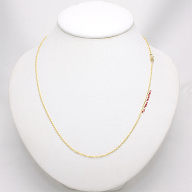 14k Yellow Solid Gold Round Cable 1.5mm Style Chain Necklace