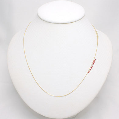 14k Yellow Solid Gold Cable D/C 0.8mm Style Chain Necklace