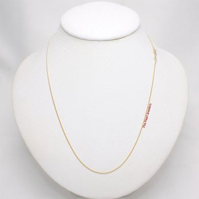 Solid 14k Yellow Gold Baby Curb Link Style 0.9mm Chain Necklace