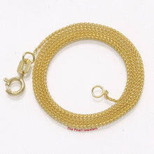 Load image into Gallery viewer, Solid 14k Yellow Gold Round Wheat Style 0.85 mm Chain Necklace