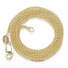 Load image into Gallery viewer, 14k Solid Yellow Gold Round Wheat Style 1.3mm Chain Necklace