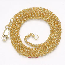 Load image into Gallery viewer, 1.8 mm 14k Solid Yellow Gold Round Wheat Style Chain Necklace