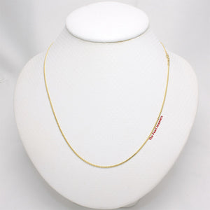 Solid 14k Yellow Gold Flat Wheat Style 1.2mm Chain Necklace