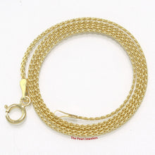 Load image into Gallery viewer, Solid 14k Yellow Gold Flat Wheat Style 1.2mm Chain Necklace