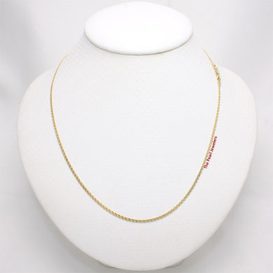 Solid 14k Yellow Gold Chain 1.9mm Width Flat Wheat Style Necklace