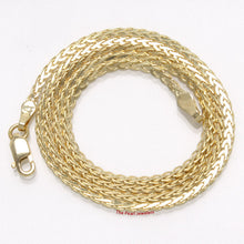 Load image into Gallery viewer, Solid 14k Yellow Gold Chain 1.9mm Width Flat Wheat Style Necklace