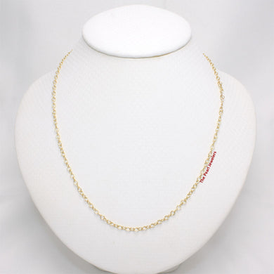 Solid 14k Yellow Gold Chain Fancy Rolo Style 2mm Necklace