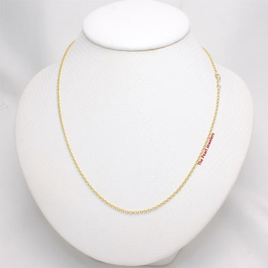 14k Solid Yellow Gold Chain Micro Rolo Style 1.9mm Necklace