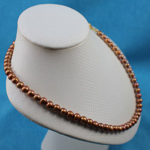 600015G66-Chocolate-Freshwater-Cultured-Pearls-Necklace-Alloy-Lobster-Clasp