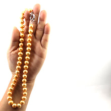Load image into Gallery viewer, 600027G41-Golden-Pearl-Hand-Knot-Jumbo-Spring-Ring-Clasp-Necklace