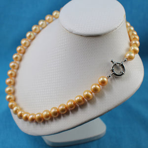 600027G41-Golden-Pearl-Hand-Knot-Jumbo-Spring-Ring-Clasp-Necklace