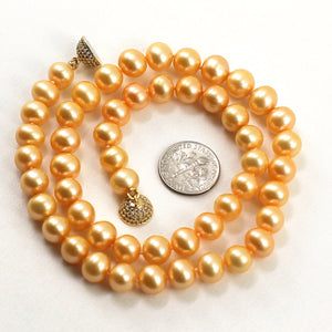 600069G10-Golden-Cultured-Pearl-Hand-Knot-Magnet-Clasp-Necklace