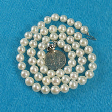 Load image into Gallery viewer, 600084S24-Beautiful-Akoya-White-Pearl-Hand-Knot-Necklace