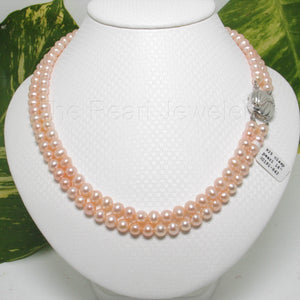 600191-842-Nature-Pink-Pearl-Double-Lanes-Necklace-Silver-925-Clasp