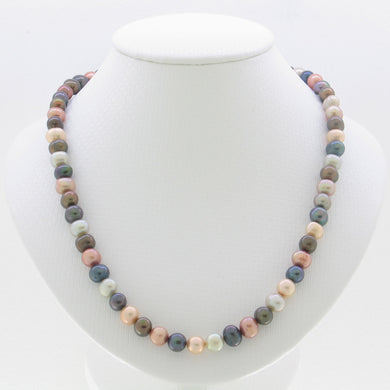 600773S33-7-8mm-Freshwater-Multicolor-Pearl-Necklace
