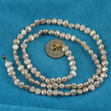 Load image into Gallery viewer, 640043G26-Genuine-Pink-Small-Baroque-Pearl-Necklace