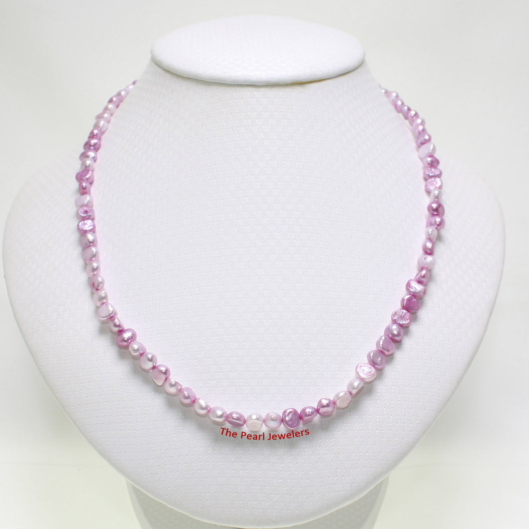 643421G26-Rose-Colored-Small-Baroque-Pearl-Simple-Style-Necklace
