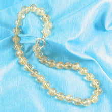 Load image into Gallery viewer, 650160C37-14k-Yellow-Gold-Clasp-Bead-Golden-Citrine-Knot-Necklace