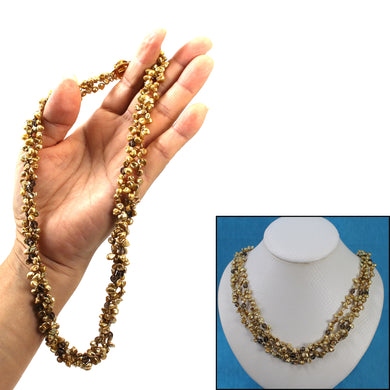 6936035G49C-Three-Strands-Golden-Green-Keshi-Pearl-Twisted-Necklace