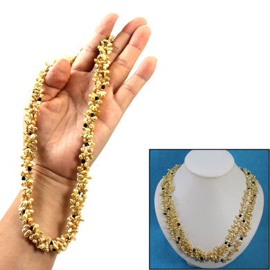 6936049G49C-Three-Strand-Golden-Green-Keshi-Pearl-Necklace
