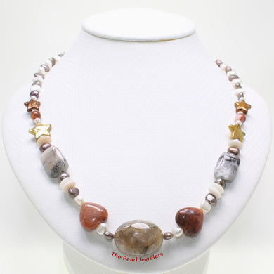 696028S23-Simple-Combination-of-Color-Baroque-Pearl-Agate-Necklace