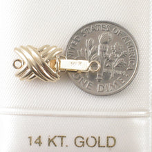 Load image into Gallery viewer, 14k Yellow Solid Gold Simple Elegant & Beautiful X Design Clasp
