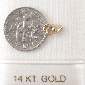 14k Yellow Solid Gold Simple Lobster Claw Trigger with Jump Ring Clasp