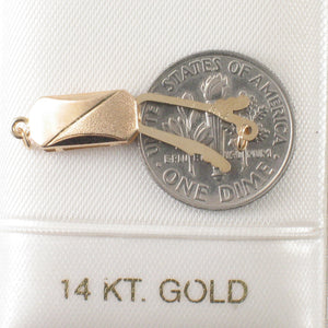 14k Yellow Solid Gold Two Tone in Highly Polished Safety Clasp